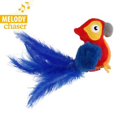 Gigwi MELODY CHASER RED PARROT WITH MOTION ACTIVATED SOUND CHIP - The Happy Dolphin Pets