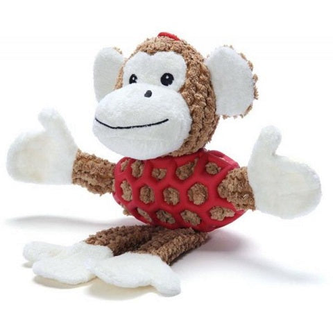 Monkey With Rubber Net And Squeaky - Small