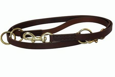 Multi-Function Leash - Available in Brown or Black - The Happy Dolphin Pets