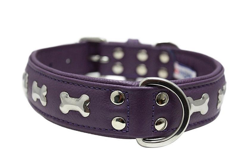 Orchid Purple Rotterdam Bones - made with Soft Genuine Cowhide Leather - The Happy Dolphin Pets