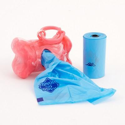 Red Bone/ Waste Pick-Up Dispenser & Refill Bags - The Happy Dolphin Pets