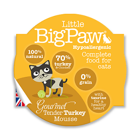 Little Big Paws Gourmet Tender Turkey Mousse 85g - The Happy Dolphin Pets