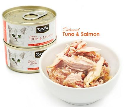 Kit Cat Deboned Tuna & Salmon - 80g - The Happy Dolphin Pets