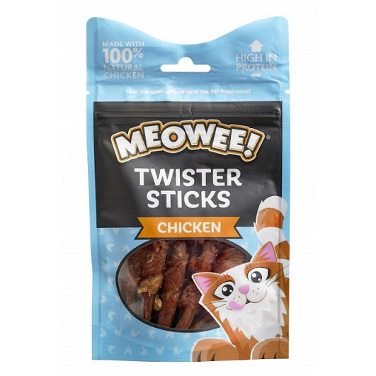 Meowee Chicken Twister Sticks Cat Treats - The Happy Dolphin Pets