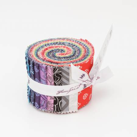 True Colors (40 pcs) Jelly Roll by Tula Pink for Free Spirit