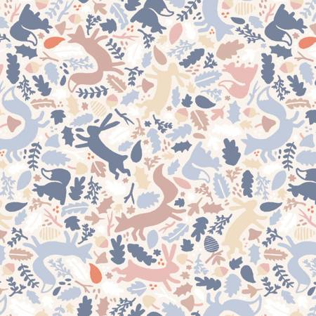 Multi Woodland Animals Price Per Half Yard