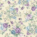 Twilight Garden Allover Floral- Medium Linen Price Per Half Yard