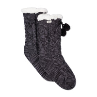 UGG® Pom Pom Fleece Lined Crew Sock