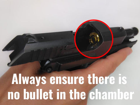 Rules of Gun Safety - Visually Inspect the Chamber