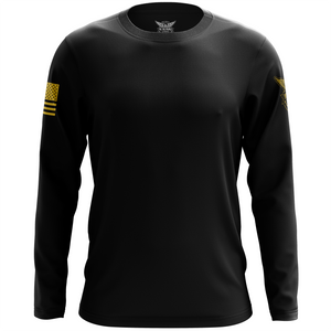 Basic - Black + Gold Long Sleeve Shirt