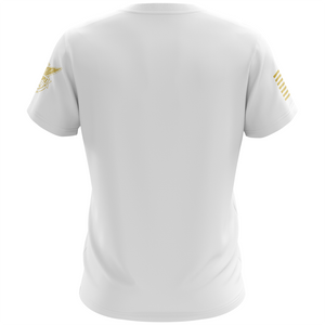 Basic - White + Gold Short Sleeve Shirt