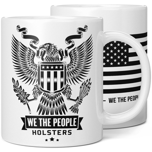 We The People Holsters Heraldic Eagle with Shield Logo Coffee Mug