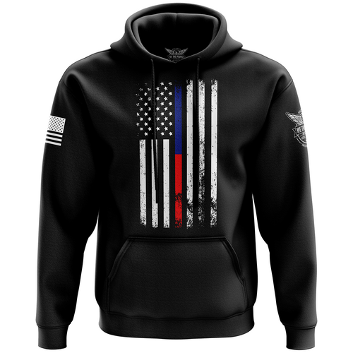 American Flag Thin Blue/Red Line Hoodie