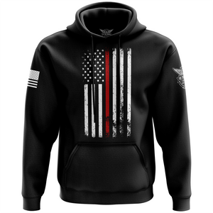American Flag Thin Red Line Hoodie