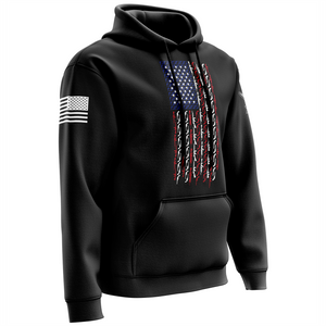 American Flag in Guns - Patriotic Colors Hoodie