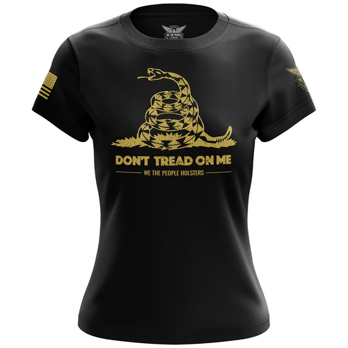 Dont Tread On Me Gadsden Flag Women's Short Sleeve Shirt