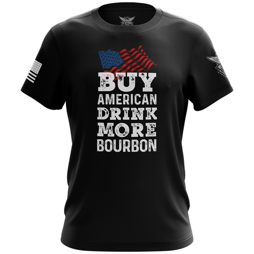 Buy American Drink More Bourbon Short Sleeve Shirt