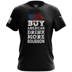 Buy American Drink More Bourbon Apparel Unisex T-Shirt