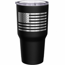 We The People are Veterans + American Flag Stainless Steel Tumbler