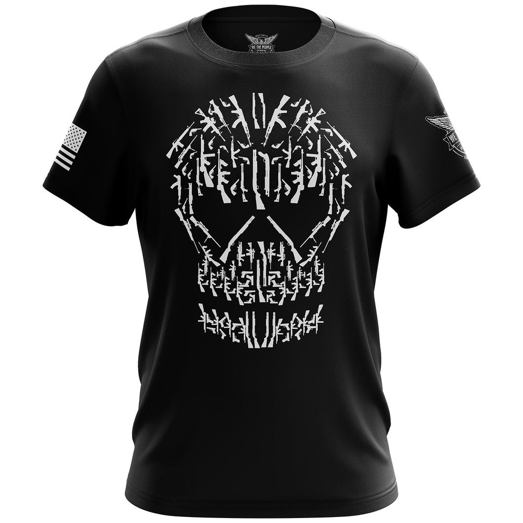 Gun Skull Short Sleeve Shirt