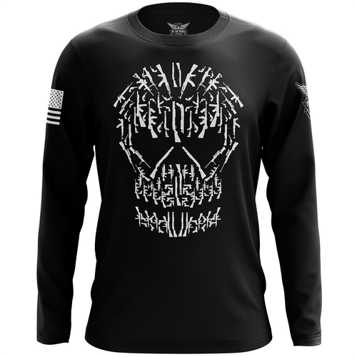 Gun Skull Long Sleeve Shirt