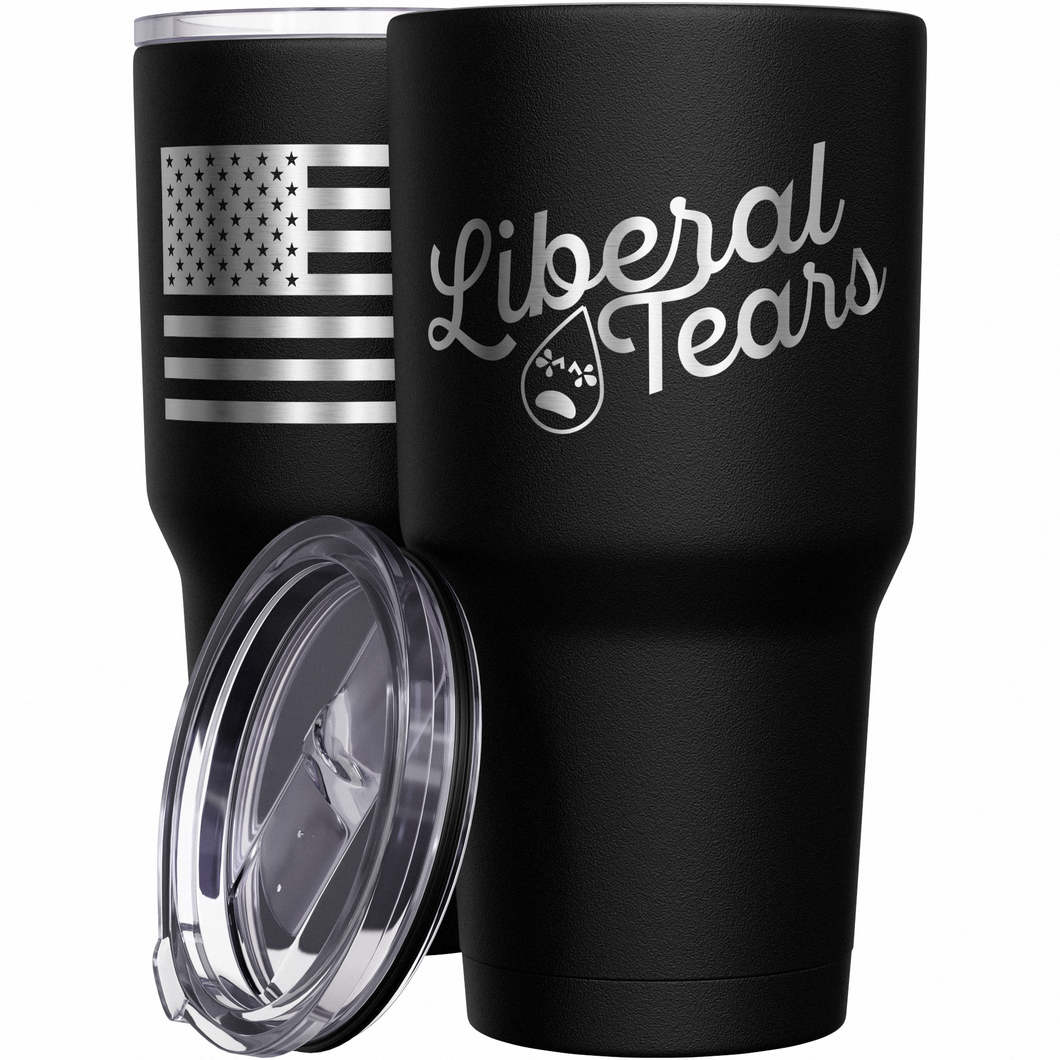 Liberal Tears + American Flag Stainless Steel Tumbler