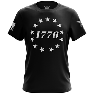1776 Betsy Ross Flag Short Sleeve Shirt