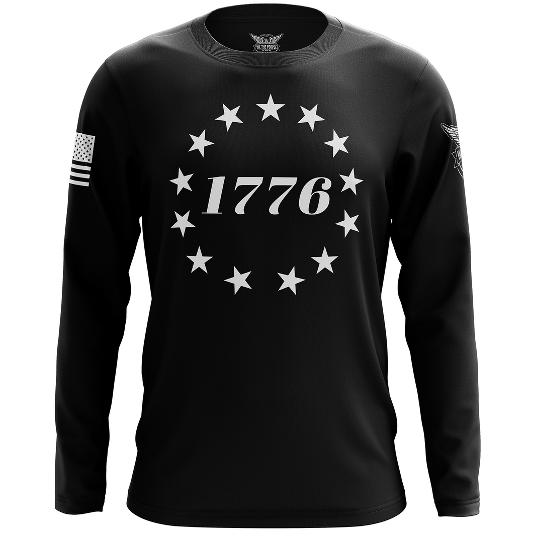 1776 Betsy Ross Flag Long Sleeve Shirt