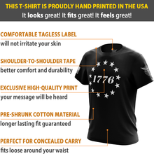 1776 Betsy Ross Flag Short Sleeve T-Shirt