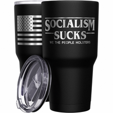 Socialism Sucks + American Flag Stainless Steel Tumbler