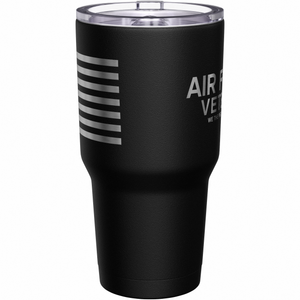 Air Force Vet + American Flag Stainless Steel Tumbler