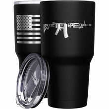 We The People AR-15 + American Flag Stainless Steel Tumbler