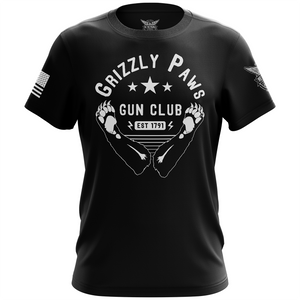 Grizzly Paws Gun Club Short Sleeve T-Shirt