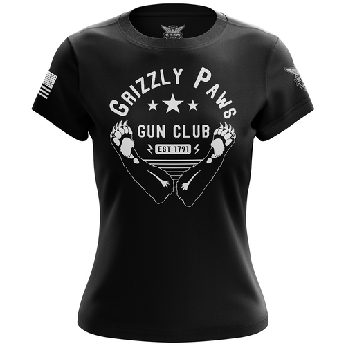 Grizzly Paws Gun Club Women's Short Sleeve Shirt