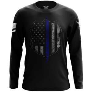 Thin Blue Line Flag Long Sleeve Shirt
