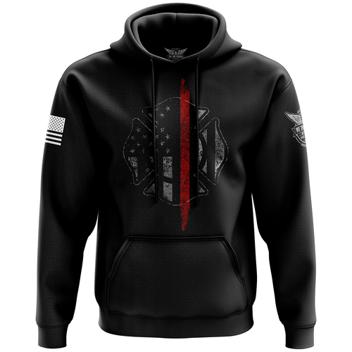Thin Red Line Flag Hoodie