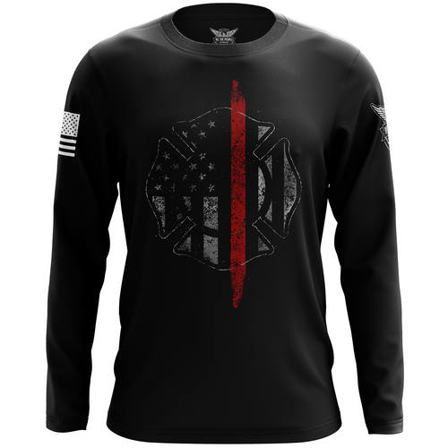 Thin Red Line Flag Long Sleeve Shirt