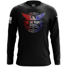 We The People Holsters Distressed Flag Logo Long Sleeve Shirt