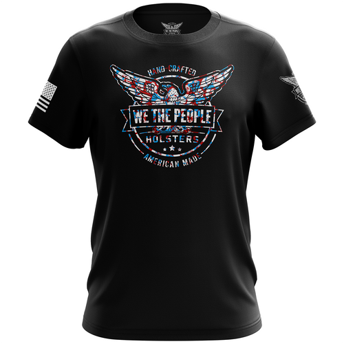 We The People Holsters Blue Hawaiian Logo Short Sleeve Shirt