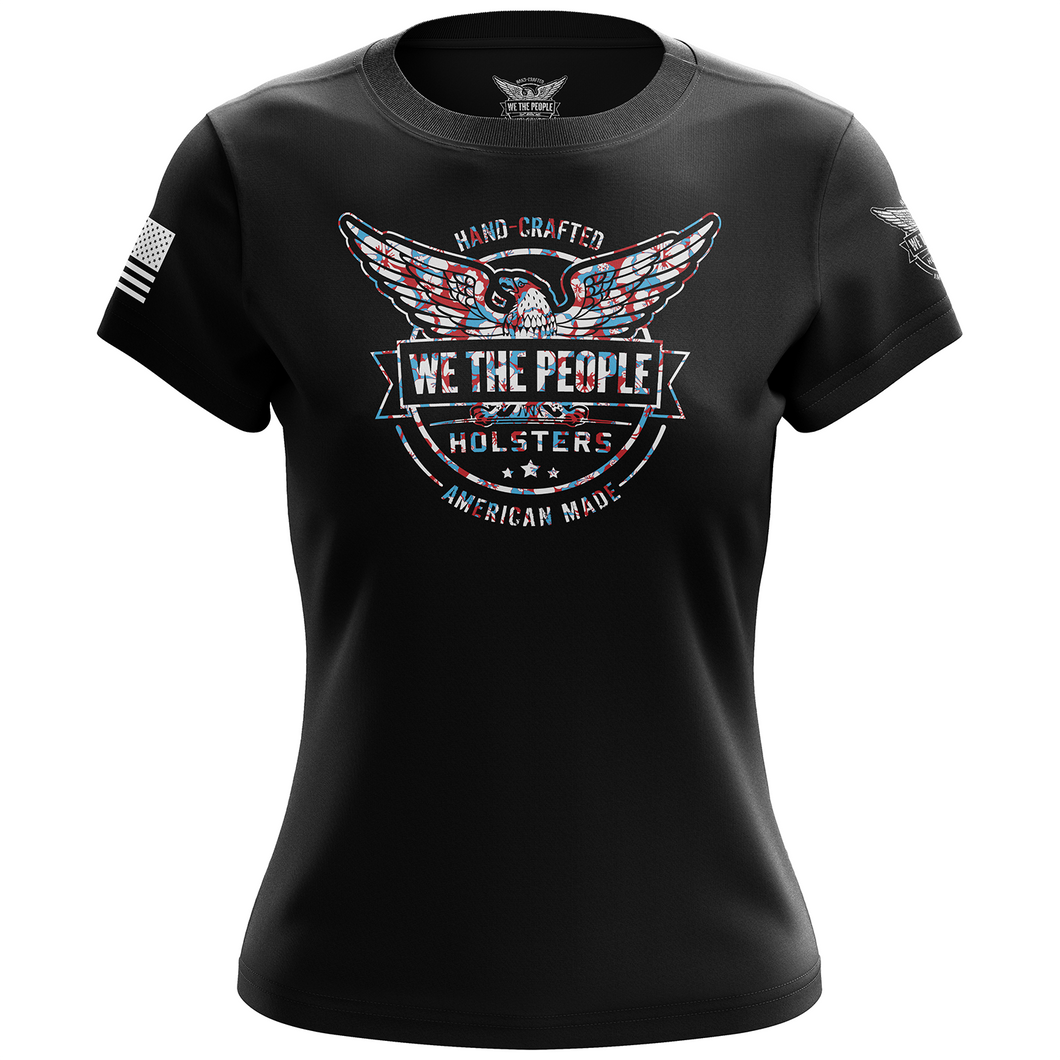 We The People Holsters Blue Hawaiian Logo Women's Short Sleeve Shirt