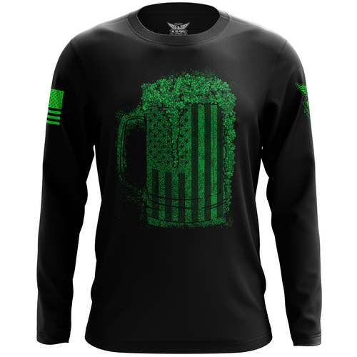 American Irish Long Sleeve Shirt