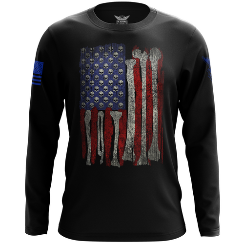 Skull Flag Long Sleeve Shirt