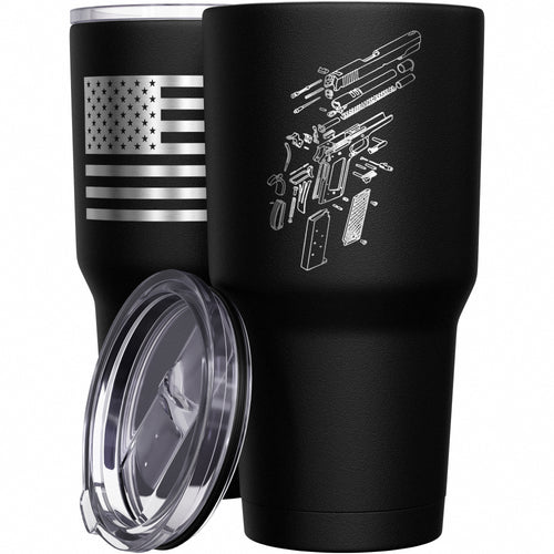 1911 Schematics Stainless Steel Tumbler