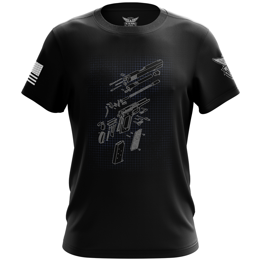 1911 Schematics Short Sleeve Shirt