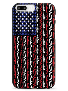 American Flag in Guns - Patriotic Colors Case