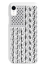 American Flag in Guns - Black and White Case