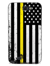 Downward American Flag - Thin Yellow Line Case