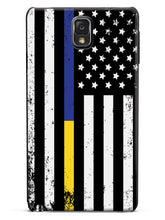 Downward American Flag - Thin Blue Line & Thin Gold Line Case