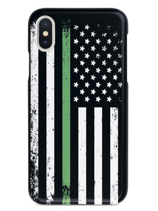 Downward American Flag - Thin Green Line Case