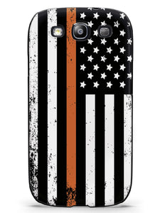 Downward American Flag - Thin Orange Line Case